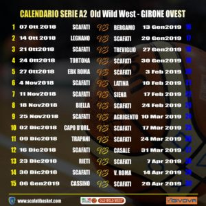 Calendario Serie A2 Basket.Basket A2 Il Calendario Della Givova Scafati Tvoggi